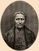 Louis Braille (1809-1852) French educationalist and inventor of a system of reading and writing for the blind using raised dots on paper.  Braille was blinded in a childhood accident. Engraving  from 'La Nature' (Paris, 1887).