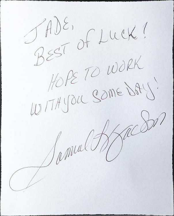 for Jade Labeste from Samuel L. Jackson