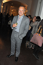 GRAHAM NORTON at a party to celebrate the launch of the new gallery Pace at 6 Burlington Gardens, London on 3rd October 2012.