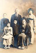 traditional family studio portrait Japan ca 1930s