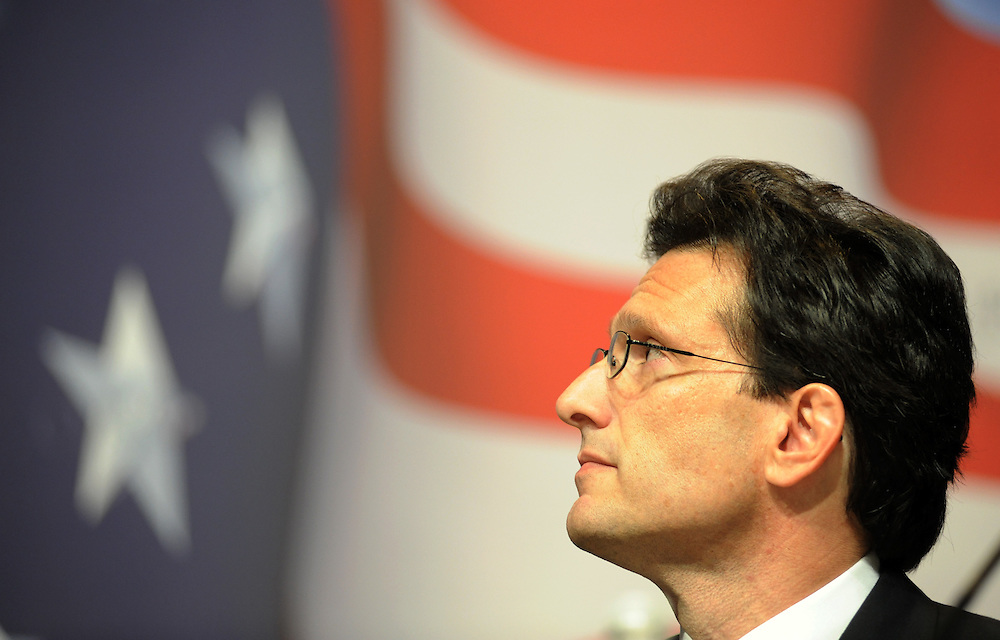 "Rep. Eric Cantor, House Miniority Whip, participates in the discussion, ""Saving Freedom; It's About Jobs, Stupid!"" during the 37th Annual Conservative Political Action Conference held at Marriott Wardman Park Hotel in Washington DC on Friday, Feb. 19, 2009. (Amanda Lucidon)"