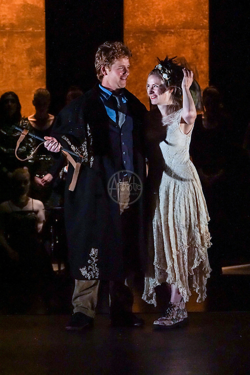 Pacific Music Works and UW School of Music production of Magic Flute. Ross Hauck and Mary Feminear.