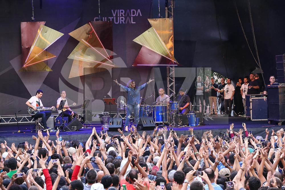 SÃO PAULO,SP, 22.05.2016 - VIRADA-CULTURAL - Maria Rita durante apresentação no palco São João na Virada Cultural 2016 no centro de São Paulo, neste domingo, 22. (Foto: Monica Silveira/Brazil Photo Press)