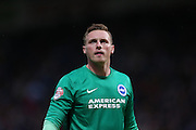 Brighton goalkeeper, David Stockdale during the Sky Bet Championship match between Huddersfield Town and Brighton and Hove Albion at the John Smiths Stadium, Huddersfield, England on 18 August 2015.