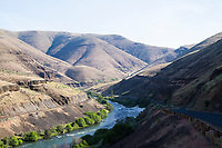 Fly fishing the Deschutes River in eastern Oregon.