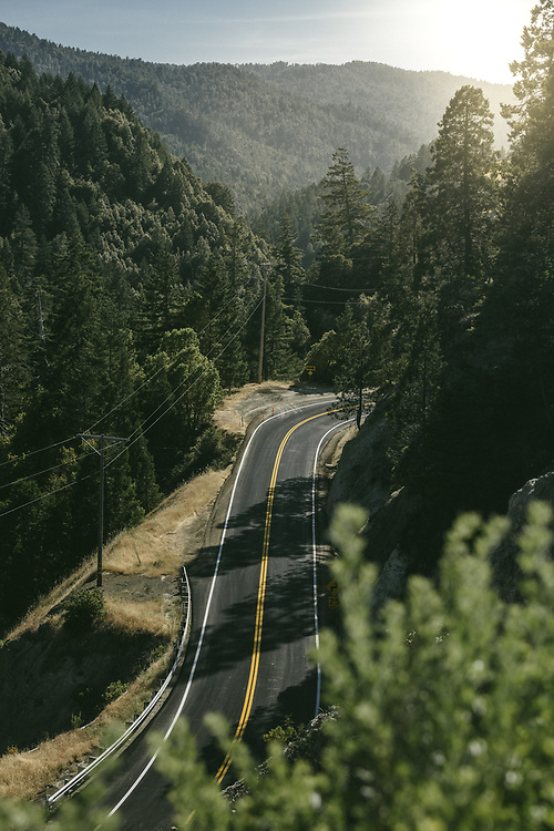 Roadscape. Mendocino, CA