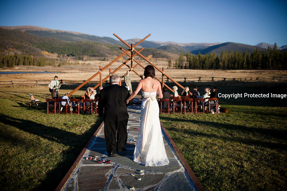 SHOT 9/30/10 6:51:22 PM - Marc Piscotty and Margaret Ebeling wedding week at Devil's Thumb Ranch in Tabernash, Co..(Photo by Trevor Brown / © 2010)