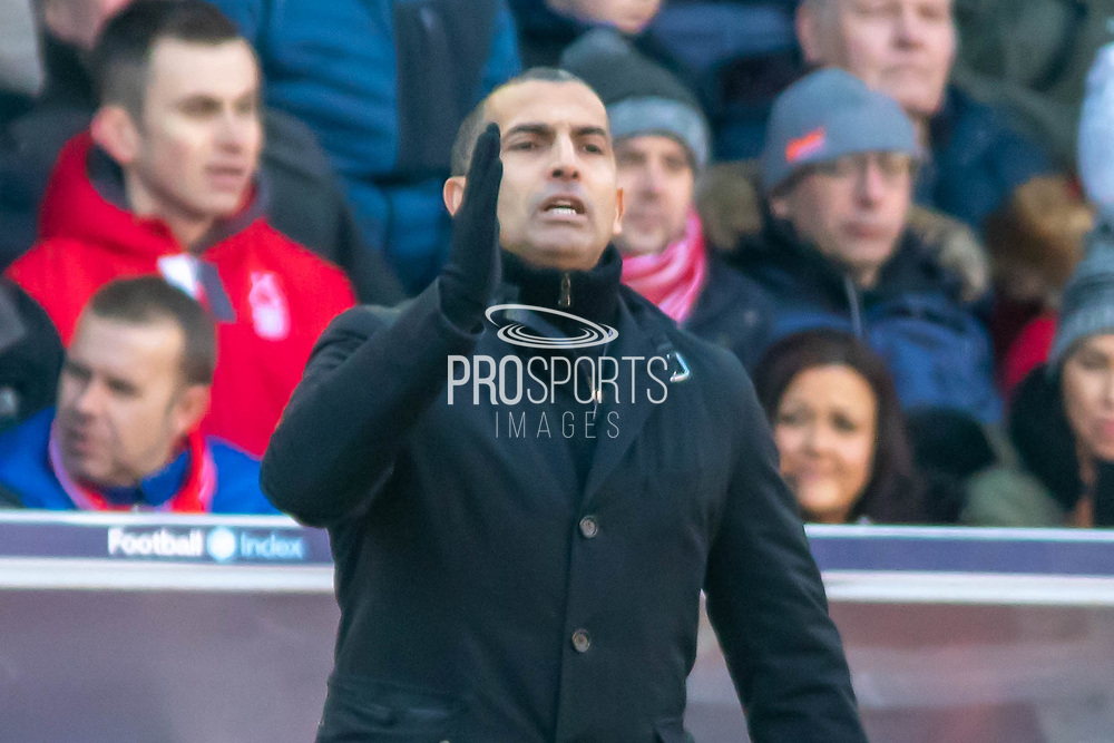 Sabri Lamouchi during the EFL Sky Bet Championship match between Nottingham Forest and Luton Town at the City Ground, Nottingham, England on 19 January 2020.
