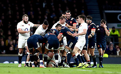 A fracas breaks out between England and France players - Mandatory by-line: Robbie Stephenson/JMP - 04/02/2017 - RUGBY - Twickenham - London, England - England v France - RBS Six Nations