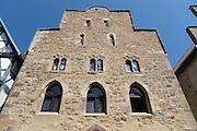 mittelalterliches Steinhaus, Altstadt, Fritzlar, Nordhessen, Hessen, Deutschland | medieval stone building, old town, Fritzlar, Hesse, Germany