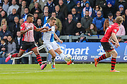 Bristol Rovers Lee Brown delivers a cross into the box during the Sky Bet League 2 match between Bristol Rovers and Exeter City at the Memorial Stadium, Bristol, England on 23 April 2016. Photo by Shane Healey.