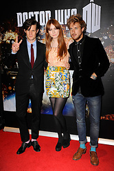 Matt Smith, Karen Gillan and Arthur Darvill  arrive for the 'Doctor Who: Asylum of the Daleks' TV Preview and Q&A held at the BFI Southbank London, Tuesday August 14, 2012. Photo by i-Images