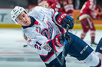 REGINA, SK - MAY 20: Nick Henry #21 of Regina Pats warms up against the Acadie-Bathurst Titan at the Brandt Centre on May 20, 2018 in Regina, Canada. (Photo by Marissa Baecker/CHL Images)