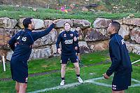 ESTEPONA - 06-01-2016, AZ in Spanje 6 januari, AZ speler Mounir El Hamdaoui, AZ speler Guus Hupperts, AZ speler Dabney dos Santos Souza