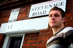 UK ENGLAND LONDON 15FEB07 - Fulham FC footballer Moritz Volz poses for photos outside the club's stadium in Stevenage Road, Fulham, West London.. . jre/Photo by Jiri Rezac. . © Jiri Rezac 2007. . Contact: +44 (0) 7050 110 417. Mobile:  +44 (0) 7801 337 683. Office:  +44 (0) 20 8968 9635. . Email:   jiri@jirirezac.com. Web:    www.jirirezac.com. . © All images Jiri Rezac 2007 - All rights reserved.