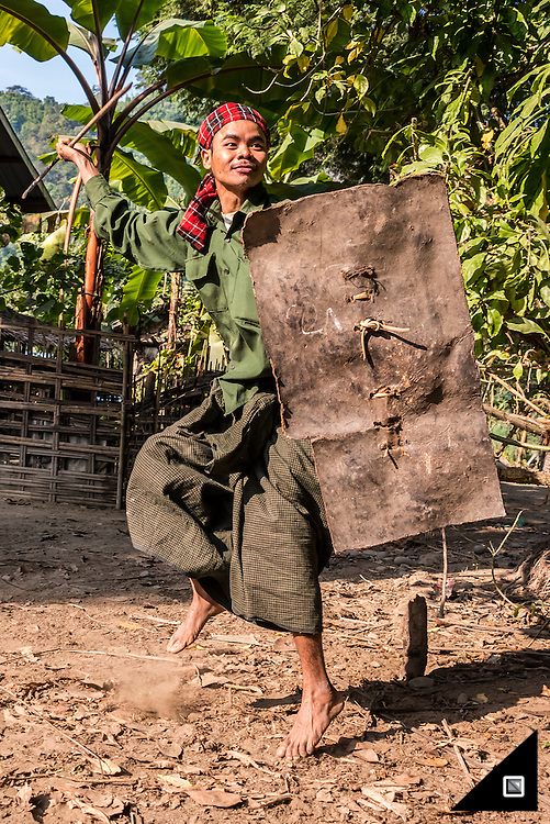 Myanmar - The Chin Chin villages along the Lay Mro River (Rakhine State)