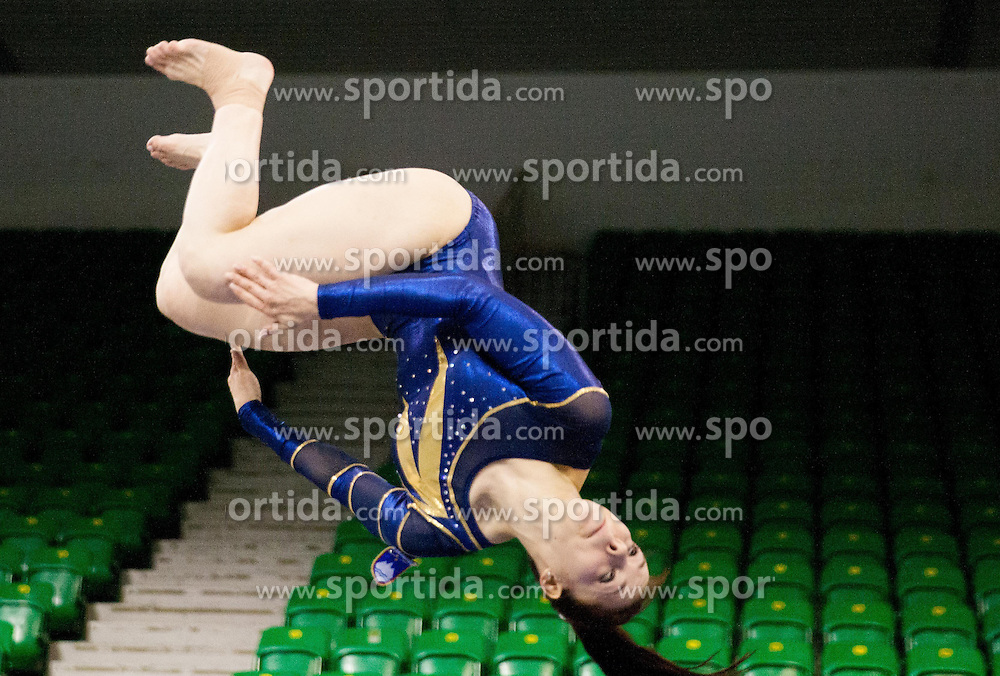 Tjasa Kysselef of Slovenia competes in the Vault during Final day 1 of Artistic Gymnastics World Challenge Cup Ljubljana, on April 19, 2014 in Hala Tivoli, Ljubljana, Slovenia. Photo by Vid Ponikvar / Sportida