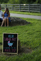 iJennie and Kevin baby announcement Thursday, Aug. 11, 2016 at Anchorage Park in Louisville.