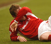 GILLINGHAM VS NOTTINGHAM FOREST<br />6TH MARCH 2004<br />FOREST DEJECTION AT GILLINGHAM FROM ALAN ROGERS WHO LATER ALSO GOT SENT OFF<br /><br /><br />Picture Ady Kerry