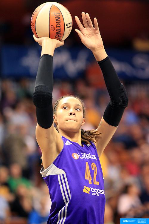 Brittney Griner, Phoenix Mercury, during the Connecticut Sun V Phoenix Mercury, WNBA regular season game at Mohegan Sun Arena, Uncasville, Connecticut, USA. 29th June 2013. Photo Tim Clayton