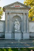 Monument of the writer Franz Grillparzer in Volksgarten Vienna, Austria