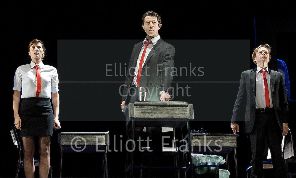 Theatre de la Ville-Paris<br /> Rhinoceros<br /> <br /> at The Barbican Theatre, London, Great Britain <br /> <br /> press photocall<br /> <br /> 14th February 2013 <br /> <br /> Charles Roger Bour<br /> Jauris Casanova<br /> Valerie Dashwood<br /> Phillippe Demarle<br /> Sandra Faure<br /> Gaelle Guillou<br /> Sarah Karbasnikoff<br /> Stephane Krahenbuhl<br /> Serge Maggiani<br /> Gerlad Maillet<br /> Walter N'Guyen<br /> Hugues Quester<br /> Pascal Vuillemot<br /> <br /> <br /> Photograph by Elliott Franks