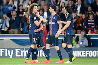 joie PSG / David Luiz / Javier Pastore / Edinson Cavani - 23.05.2015 - PSG / Reims - 38eme journee de Ligue 1<br /> Photo : Andre Ferreira / Icon Sport