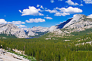 Tenaya Lake and granite domes, Tuolumne Meadows area, Yosemite National Park, California