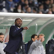 Patrick Vieira, head coach of NYCFC, on the sideline during the New York City FC Vs Orlando City, MSL regular season football match at Yankee Stadium, The Bronx, New York,  USA. 18th March 2016. Photo Tim Clayton
