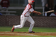 Lafayette High's Dylan Gossett hits a three-run double vs. Center Hill in high school baseball action in Oxford, Miss. on Tuesday, April 5, 2011. Lafayette High won 3-2.