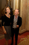 Santa and Simon Sebag-Montefiore, Annabel, An Unconventional Life. Memoirs of Lady Annable goildsmith. The Ritz. 10 March 2004. ONE TIME USE ONLY - DO NOT ARCHIVE  © Copyright Photograph by Dafydd Jones 66 Stockwell Park Rd. London SW9 0DA Tel 020 7733 0108 www.dafjones.com