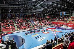 Arena Zatika during handball match between National teams of Austria vs Norway on Day 4 in Preliminary Round of Men's EHF EURO 2018, on January 16, 2018 in Arena Zatika, Porec, Croatia. Photo by Ziga Zupan / Sportida