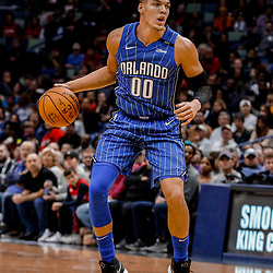 Oct 30, 2017; New Orleans, LA, USA; Orlando Magic forward Aaron Gordon (00) against the New Orleans Pelicans during the second quarter of a game at the Smoothie King Center. Mandatory Credit: Derick E. Hingle-USA TODAY Sports