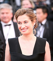 Actress Emmanuelle Devos at the gala screening of the film De rouille et d'os at the 65th Cannes Film Festival. Thursday 17th May 2012, the red carpet at Palais Des Festivals in Cannes, France.