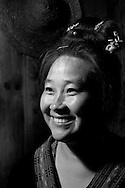 Kaili, Guizhou, China, August 10th 2007: Portrait of a 43 year old Miao woman..Photo: Joseph Feil