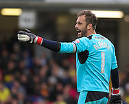 Picture by David Horn/Focus Images Ltd +44 7545 970036<br /> 14/09/2013<br /> Manuel Almunia of Watford during the Sky Bet Championship match at Vicarage Road, Watford.