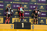 Glenn IRWIN, TAK CHUN Racing by PBM/Penz13, Ducati, Peter HICKMAN, SMT / Bathams by MGM Macau, BMW, Michael RUTTER, SMT / Bathams by MGM Macau, BMW<br /> <br /> 64th Macau Grand Prix. 15-19.11.2017.<br /> Suncity Group Macau Motorcycle Grand Prix - 51st Edition<br /> Macau Copyright Free Image for editorial use only