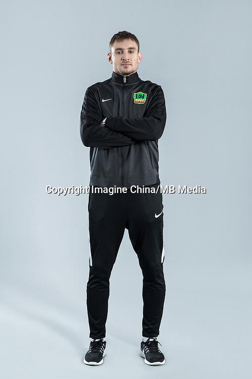 Portrait of Croatian soccer player Nikica Jelavic of Guizhou Hengfeng Zhicheng F.C. for the 2017 Chinese Football Association Super League, in Guiyang city, southwest China's Guizhou province, 23 February 2017.