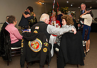 Veteran's of the United States Marine Corps gathered at Pheasant Ridge Country Club for the 241st Marines birthday celebration on Saturday evening.  (Karen Bobotas/for the Laconia Daily Sun)