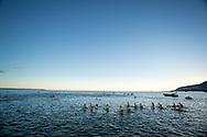 Swim Course. 2012 Ironman Cairns Triathlon. Cairns, Queensland, Australia. 03/06/2012. Photo By Lucas Wroe.