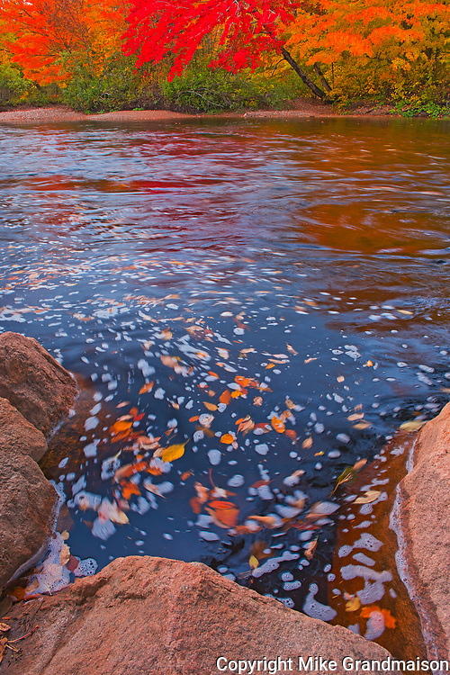 North Aspy River in autumn splendour<br />