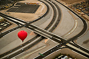 A Vegas Balloon Rides balloon flies low lover the 215 leaving from the Southern Hills Hospital in preparation for the upcoming 7th annual Balloon Festival there this weekend on Thursday, Oct. 19, 2017.  L.E. Baskow