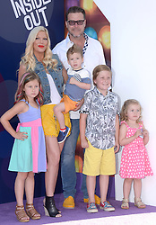 Tori Spelling and Dean McDermott attend the Los Angeles premiere of Disney-Pixars Inside Out at the El Capitan Theatre on June 8, 2015 in Los Angeles, CA, USA. Photo by Lionel Hahn/ABACAPRESS.COM  | 503964_003 Los Angeles Etats-Unis United States