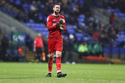 Bolton Wanderers goalkeeper Remi Matthews  during the EFL Sky Bet League 1 match between Bolton Wanderers and Wycombe Wanderers at the University of  Bolton Stadium, Bolton, England on 15 February 2020.