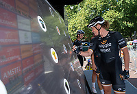 Kirsten WILD (NED) Wiggle High5 signs the Signature Board ahead of The Prudential RideLondon Classique. Saturday 28th July 2018<br /> <br /> Photo: Bob Martin for Prudential RideLondon<br /> <br /> Prudential RideLondon is the world's greatest festival of cycling, involving 100,000+ cyclists - from Olympic champions to a free family fun ride - riding in events over closed roads in London and Surrey over the weekend of 28th and 29th July 2018<br /> <br /> See www.PrudentialRideLondon.co.uk for more.<br /> <br /> For further information: media@londonmarathonevents.co.uk