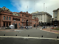 """Buenos Aires Government Building locally referred to as the Pink Building.  From the balcony, Eva Peron gave her famous """"Don't cry for me Argentina"""" speech!"""