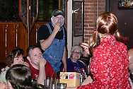 "Jerry (left) and Tamra Francis during Mayhem & Mystery's production of ""County Fair Commotion"" at the Spaghetti Warehouse in downtown Dayton, Monday, July 11, 2011."