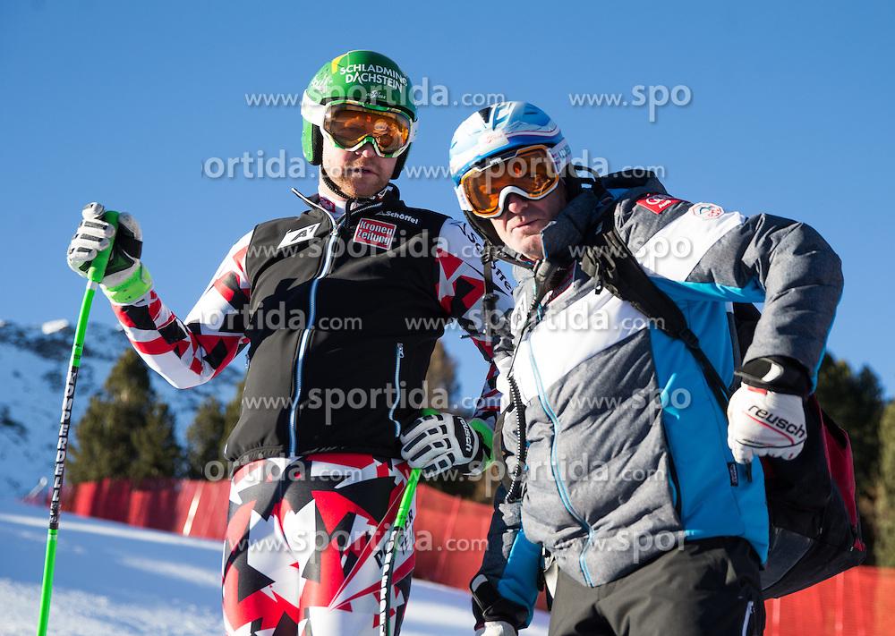 26.12.2015, Deborah Compagnoni Rennstrecke, Santa Caterina, ITA, FIS Ski Weltcup, Santa Caterina, Abfahrt, Herren, 1. Training, Streckenbesichtigung, im Bild v.l. Klaus Kroell (AUT), Sportlicher Leiter ÖSV Herren- Alpin Andreas Puelacher // Klaus Kroell of Austria ( L ), OeSV men' s headcoach Andreas Puelacher ( R ) during the course inspection of 1st practice run of men's Downhill of the Santa Caterina FIS Ski Alpine World Cup at the Deborah Compagnoni Course in Santa Caterina, Italy on 2015/12/26. EXPA Pictures © 2015, PhotoCredit: EXPA/ Johann Groder