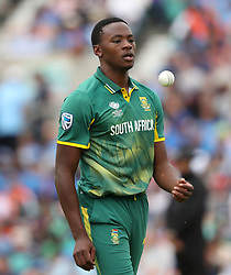 South Africa's Kagiso Rabada during the ICC Champions Trophy, Group B match at The Oval, London. PRESS ASSOCIATION Photo. Picture date: Sunday June 11, 2017. See PA story CRICKET India. Photo credit should read: Adam Davy/PA Wire. RESTRICTIONS: Editorial use only. No commercial use without prior written consent of the ECB. Still image use only. No moving images to emulate broadcast. No removing or obscuring of sponsor logos.