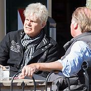 NLD/Amsterdam//20140319 - Ad Visser op een terras in Laren